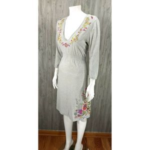 JWLA Johnny Was Embroidery Floral Butterfly Dress